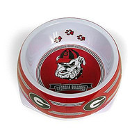 Sporty K9 Collegiate Georgia Bulldogs Pet Bowl, Large
