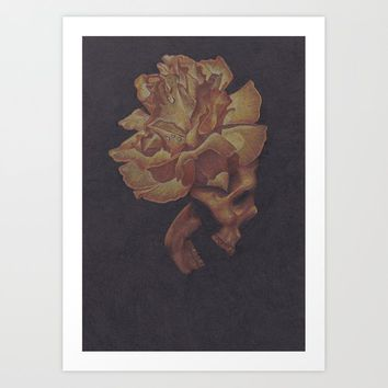 Skull Bloom Art Print by drawingsbylam
