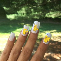 Pikachu Nail Stickers, Pikachu Nail Decals, Pikachu Decals, Pikachu Stickers, Pikachu, Team Instinct, Team Valor, Team Mystic, Pokemon Go