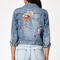 Billabong Floral Crush Embroidered Denim Jacket at PacSun.com
