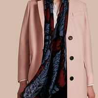Boiled Wool Tailored Coat