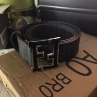 Used Black Fendi Leather Belt 50/125