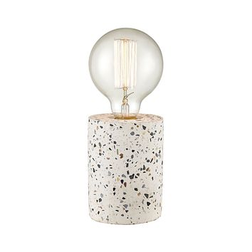 Terraz Table Lamp in Grey and White