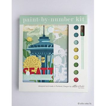 Seattle Space Needle Paint-by-Number Kit