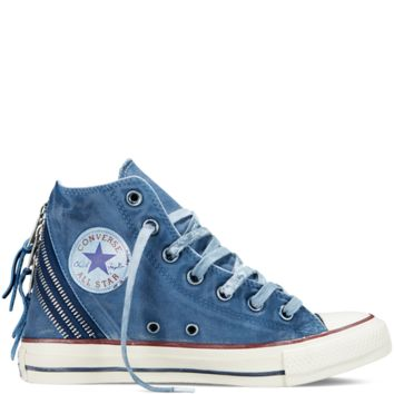 Converse - Chuck Taylor All Star Tri Zip Washed Canvas - Midnight Hour - Hi Top