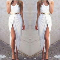 Ashley Wrap Dress- White