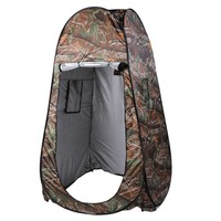 Portable Camouflage Shower Tent with Carrying Bag