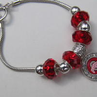From The Heart  Ohio State Buckeyes Toggle bracelet 7.5 Inch  Brand New