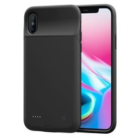 DCCKNY1 iPhone X Battery Case, ZeeHoo 3200mAh Slim Charging Case for iPhone X / iPhone 10 (5.8-inch) Protective Charger Case Extended Battery Pack¡¾Compatiable with Lightning Headphones¡¿-(Black)
