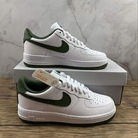 Morechoice Tuhz Nike Air Force 1 Gs White Green Low Sneakers Casual Skaet Shoes Cd6915