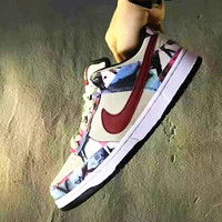 Nike dunk sb paris   Fashion Women/ men Running Sport Casual Shoes Sneakers print
