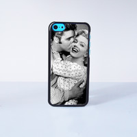 Elvis Presley Kiss Marilyn Monroe Plastic Case Cover for Apple iPhone 5C 6 Plus 6 5S 5 4 4s