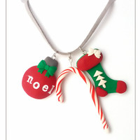 CHRISTMAS SALE Assorted Necklace, Stocking Stuffer, Christmas Jewelry, Holiday Necklace, Christmas Charm Necklace, December Gifts, Gift Idea