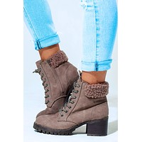 Snowed In Booties: Taupe