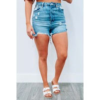 Sunset Blvd Shorts: Denim