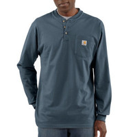 Carhartt Men's Workwear Pocket Long Sleeve Henley - For Life Out Here