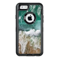 Shimmering Turquoise Ocean Waves and sand OtterBox Defender iPhone Case