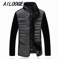 brand men's business casual down jacket jacket winter thick warm coat large mosaic of high quality material Size M-5XL