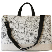 """15"""" Macbook or Laptop bag with handles and detachable shoulder strap- MAP"""