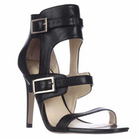 Ivanka Trump Donalu Ankle Cuff Dress Sandals - Black Leather