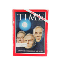 Vintage Magazine 1960s Time Magazine - Men of the Year Issue January 3, 1969  Astronauts Anders, Borman, and Lovell