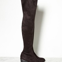 Thigh-High Faux Suede Boots