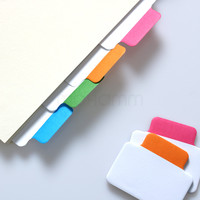 Write-On Removable Index Tab Sticker Book In Notebook Notepad Post It Stationery School Office Supplies 25 Sheets 4 Colors