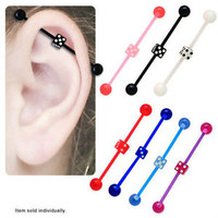 Flexible Acrylic Dice Industrial Barbell - INDFLEX
