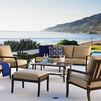 Brentwood Outdoor Furniture, 4 Piece Seating Set (1 Sofa, 2 Club Chairs and 1 Coffee Table) - Patio & Outdoor Furniture - furniture - Macy's