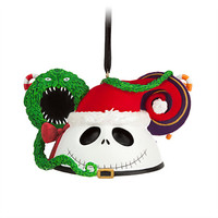 Disney Jack Skellington as Sandy Claus Ear Hat Ornament | Disney Store