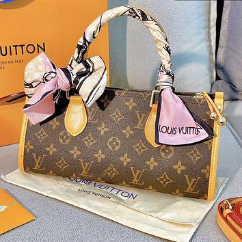 Louis Vuitton LV AAA New Products Fully Printed Letters Ladies Shopping Handbag Shoulder Bag