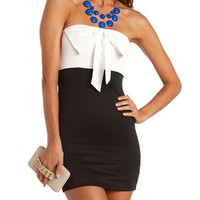 Chiffon Bow Tube Dress: Charlotte Russe
