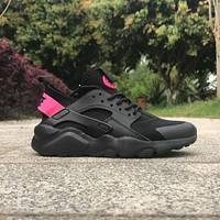 Best Online Sale Nike Air Huarache 4 Rainbow Ultra Breathe Men Women Hurache Black/Pin