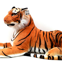 Viahart 72 Inch Giant Orange Bengal Tiger Stuffed Animal Plush - Rohit The Tiger