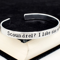 Scoundrel?  I like the sound of that - Star Wars - Han Quotes - Aluminum Bracelet