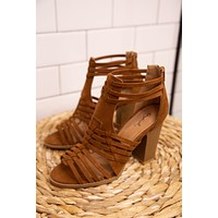 Cadence Strappy Shoes, Chestnut