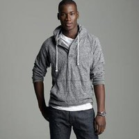 Men's tees, polos & fleece - long-sleeve tees - Heavyweight slub jersey hooded henley - J.Crew
