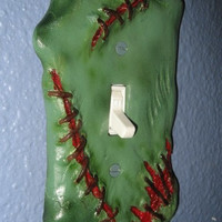 Sculpted Switchplate Frankenswitch Horror Halloween Zombie Gore Art Home Décor