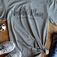 North & Main Tee