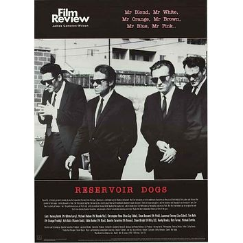 Reservoir Dogs Film Review Poster 24x34