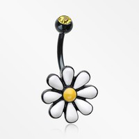 Blackline Adorable Spring Daisy Belly Button Ring
