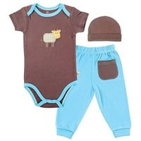 Hudson Baby Layette Set, Cow, 0-3 Months