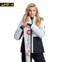 WHS New women ski jacket winter waterproof Fur collar ski coats female outdoor climbing snow jacket skiing coat fashion women