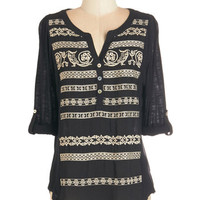 ModCloth Boho Mid-length 3 Past and Pleasantries Top