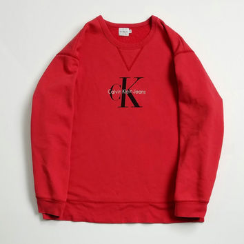Calvin Klein Jeans Sweatshirt Size XL Made In USA