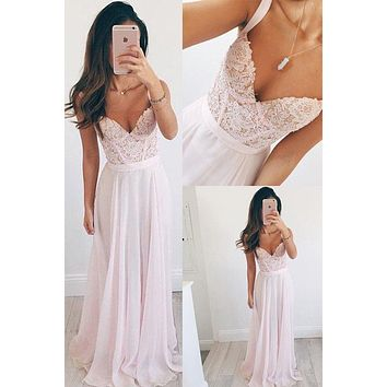 Baby Pink Prom Dress, Prom Dresses, Evening Gown, Graduation School Party Dress, Winter Formal Dress, DT0028