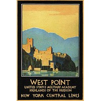 West Point VINTAGE TRAVEL POSTER Leslie Ragan United States 1934 24X36 RARE