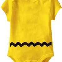 Peanuts Charlie Brown Costume Yellow Infant Baby Onesuit Romper