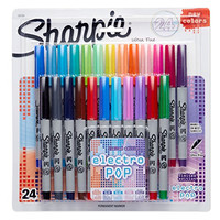 Sharpie Permanent Markers, Ultra Fine Point, 24-Pack, Assorted 2015 Colors (1927351)