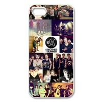Pop singer band 5 SOS 5 seconds of summer handsome boys jigsaw Iphone 5 5S hard plastic case